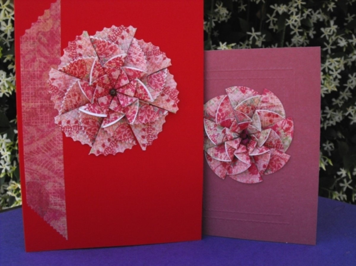 Same Paper Different Look. Paper rosette pops back up when removed from envelope.