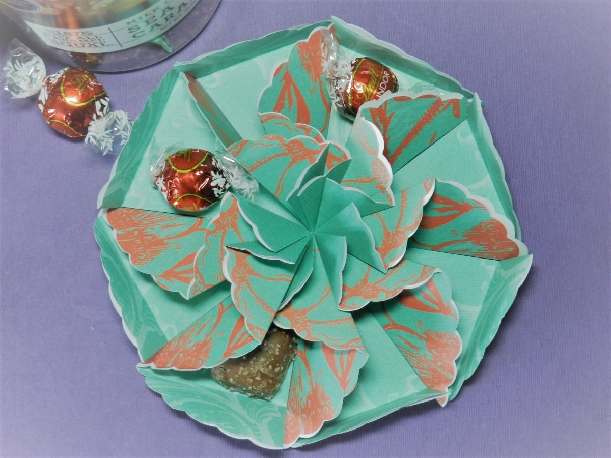Fill the party dish with MM's or wrapped candies.
