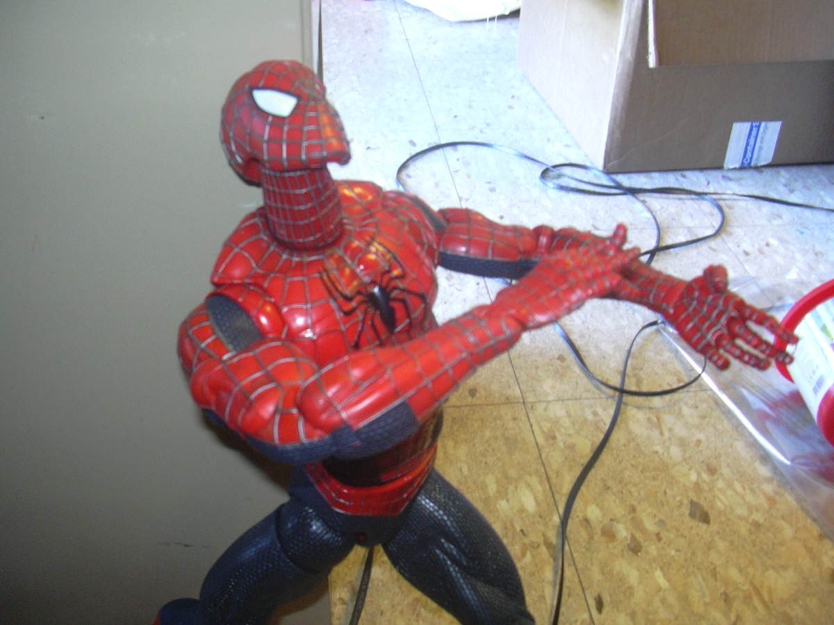 This one is to show Spider-Man looking up.  That's about as high as his head will go.  It's better than any other model that I know of.