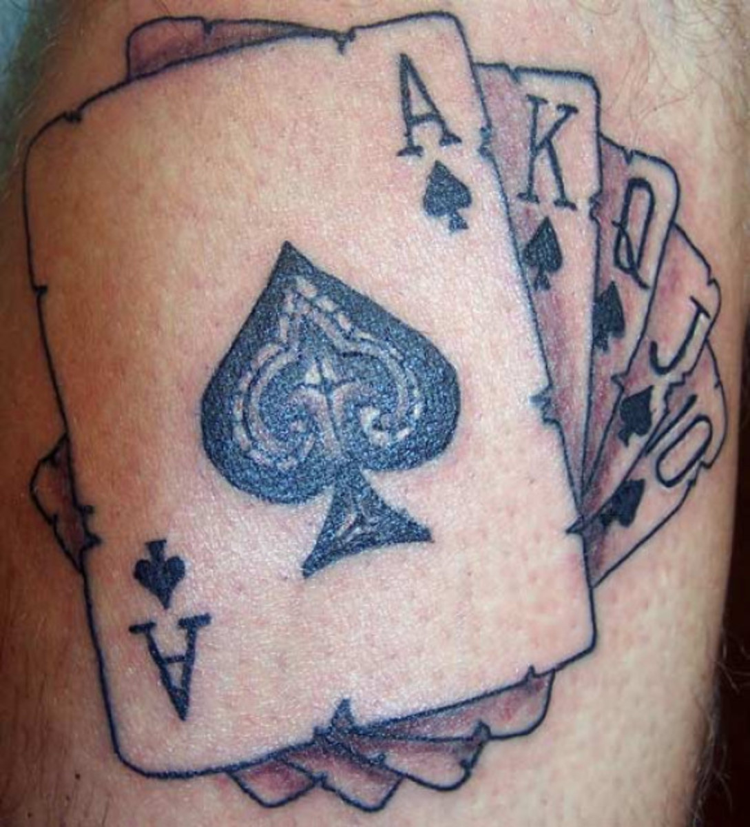 Gambling, Card Tattoos
