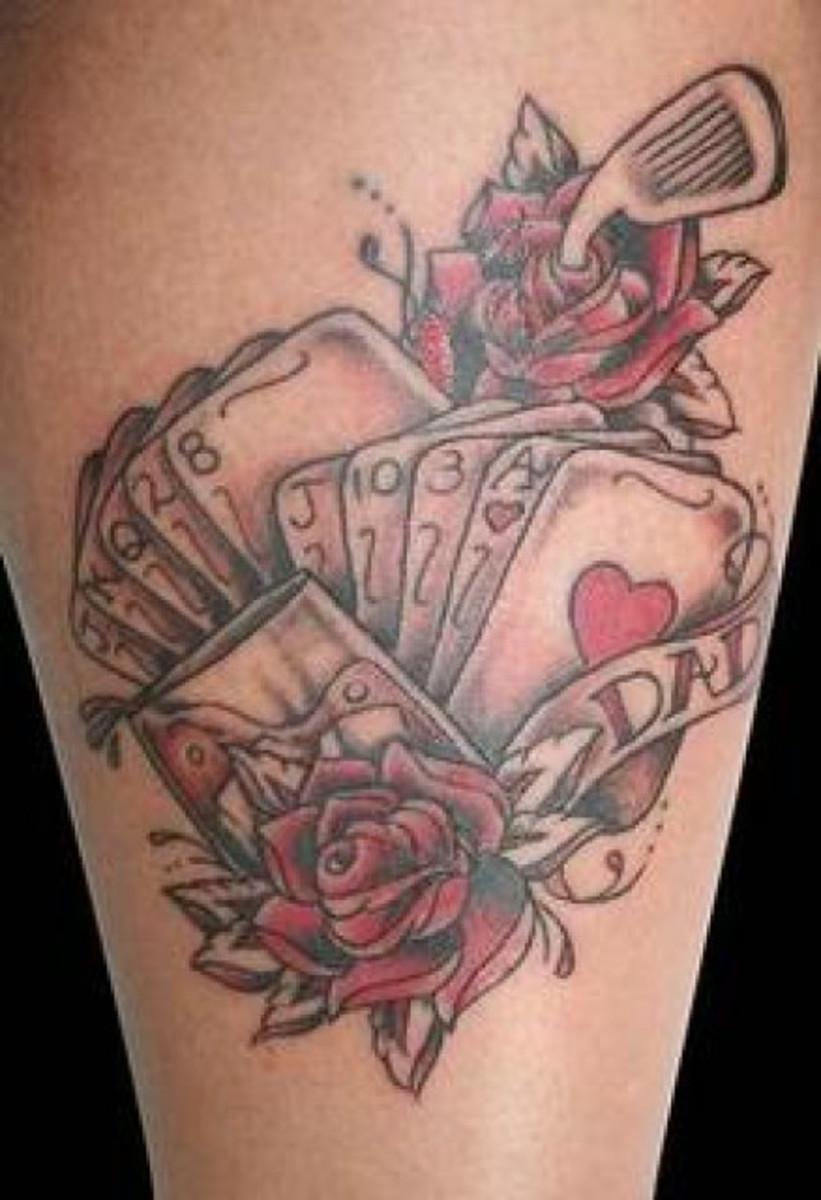gambling card tattoos hubpages. Black Bedroom Furniture Sets. Home Design Ideas