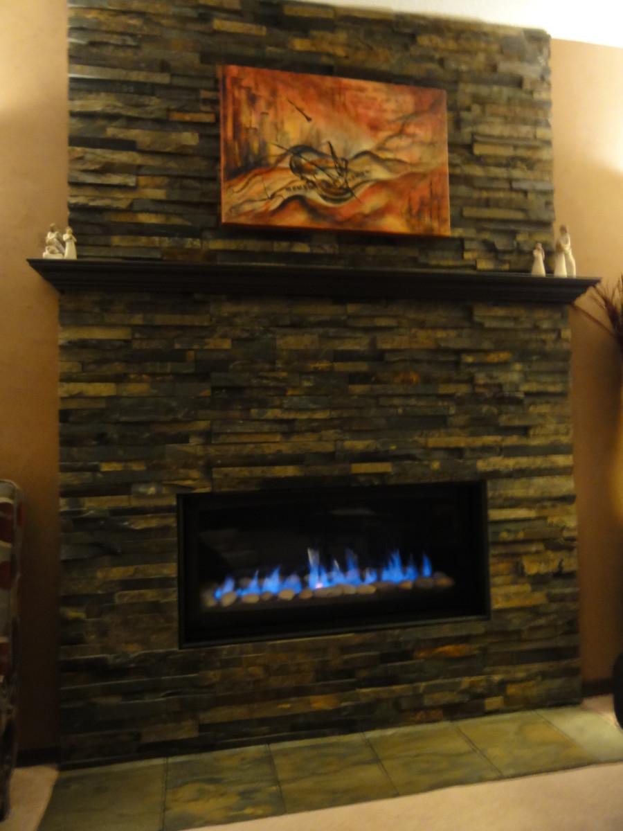 Stone Veneer Fireplace Surround - A DYI Project - How To Install A Stone Veneer Fireplace Surround Hubpages