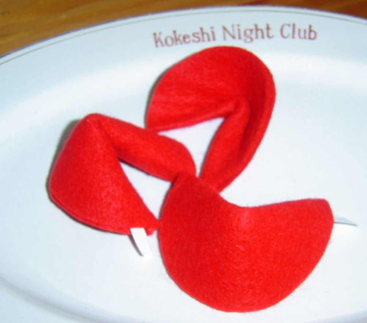 Felt Crafts Fortune Cookies
