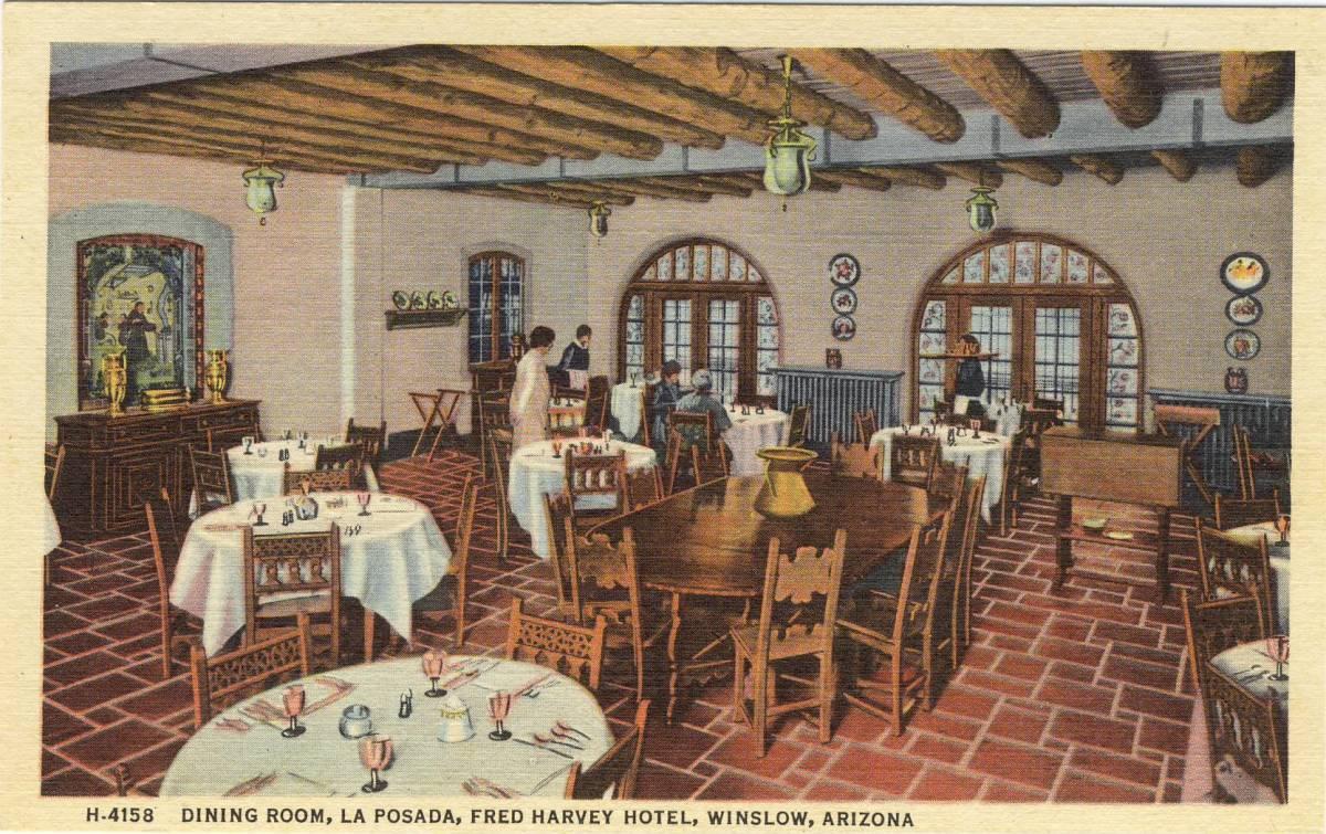 Dining Room La Posada Hotel circa 1935