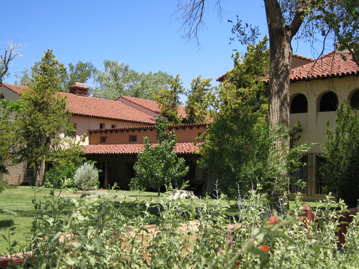 Original Front of La Posada facing Santa Fe train tracks June 2011