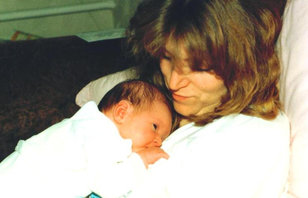 Me with my first daughter Heidi 1991