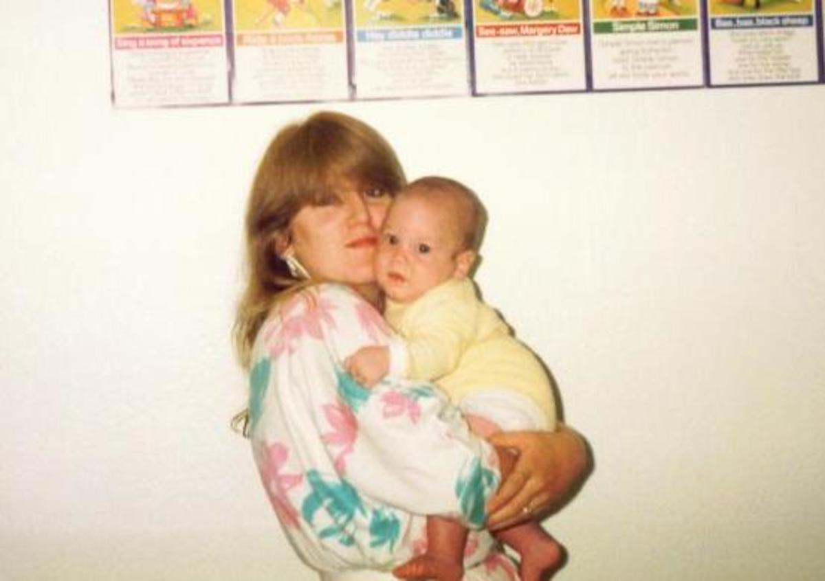 Me age 20 with my first son Michael 1985
