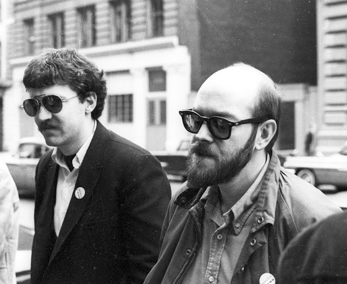 Walter Bowart (left) and Allan Katzman (right) of the East Village Other.