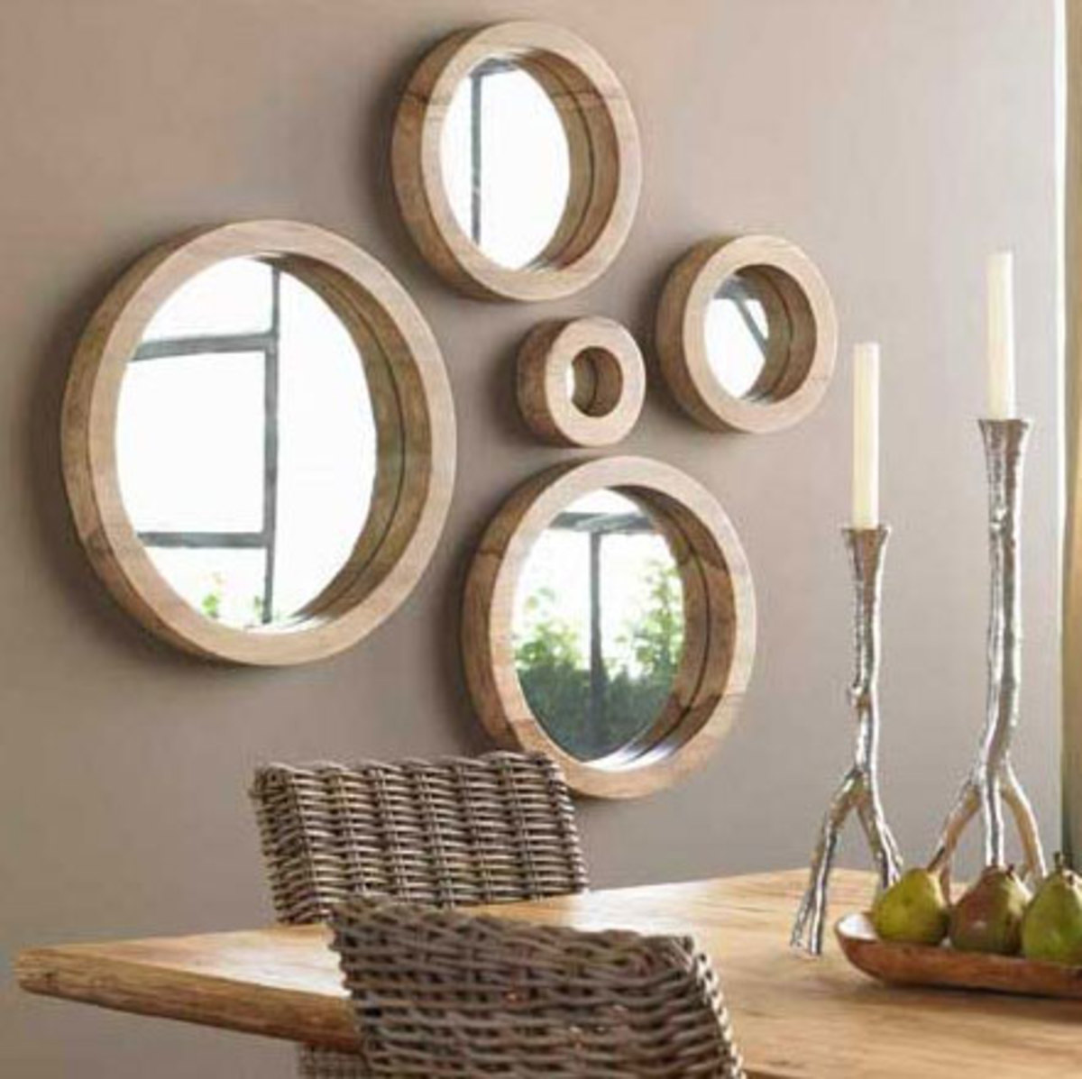 Mirrors reflect and redirect positive energy