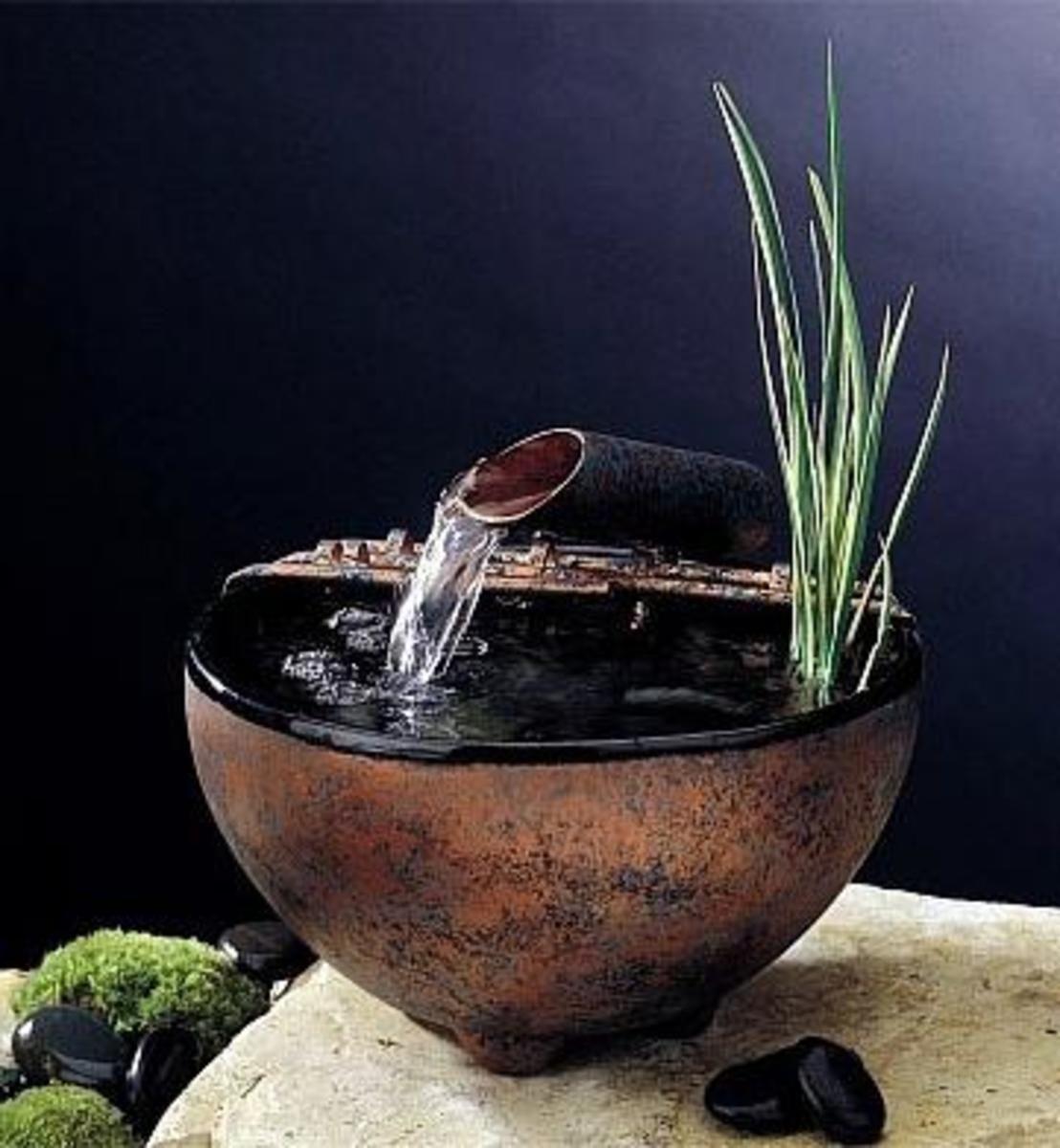 The flow of water attracts positive chi energy