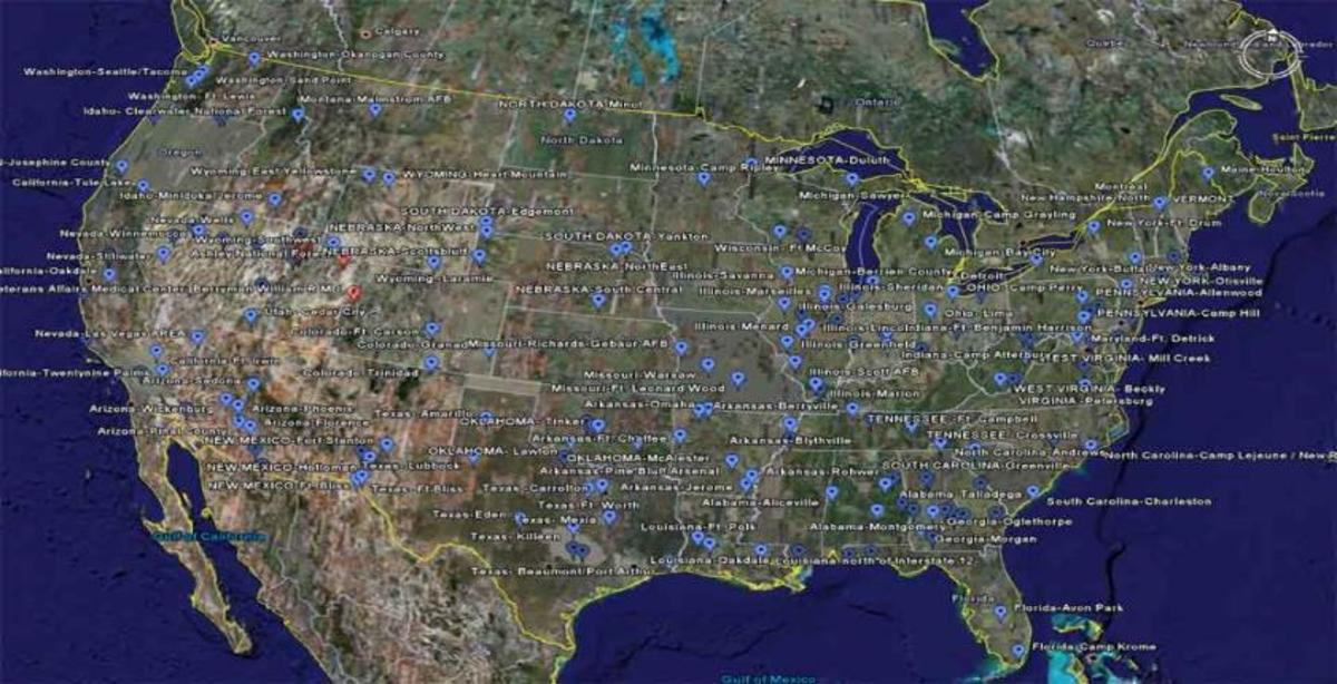 Agenda 21 - A map detailing a large number of the FEMA camps already built around the United States.  Pay one a visit!