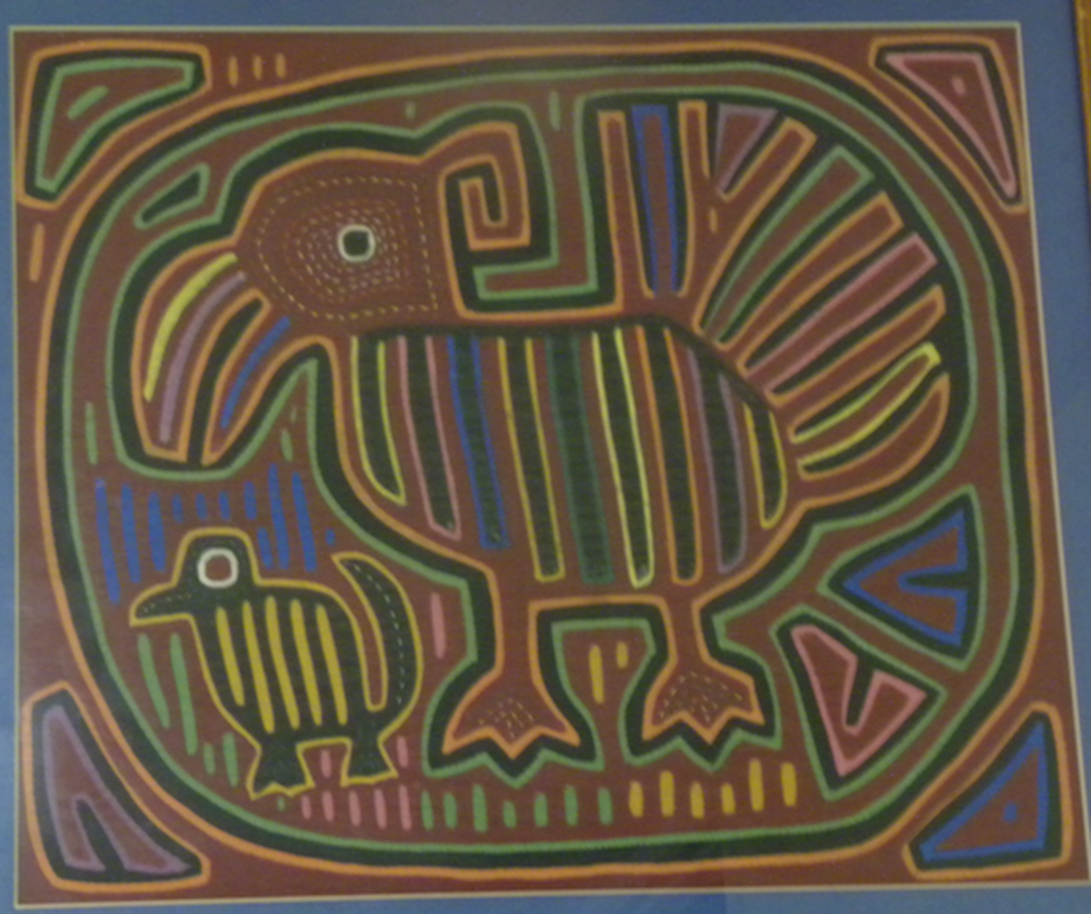 A mola from Panama. They often have animal or geometric designs