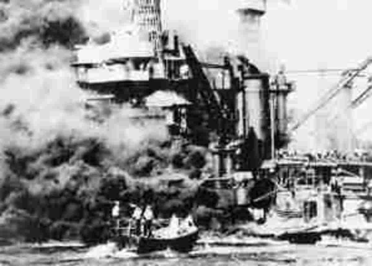 The damage of the attacks at Pearl Harbour
