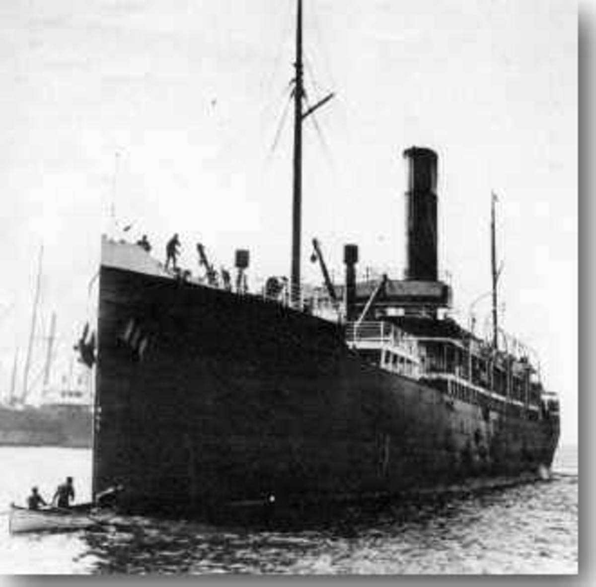The S.S Yongala before she sunk.