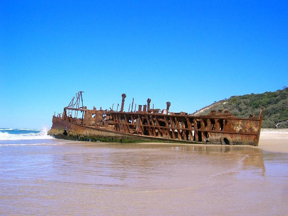 Fraser Island Shipwreck.