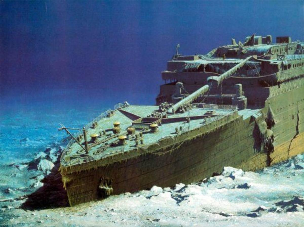 The famous Titanic shipwreck that sunk on April 10th 1912.