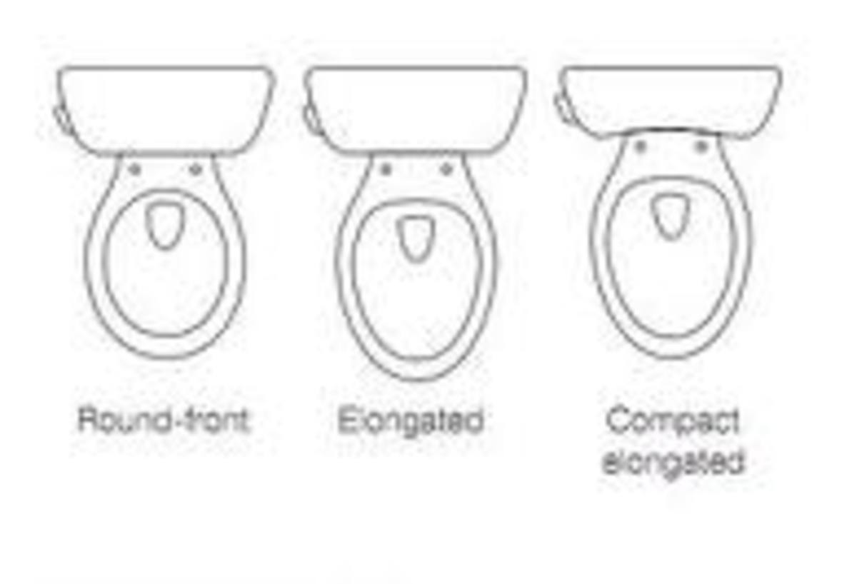 Common shapes of toilet bowls