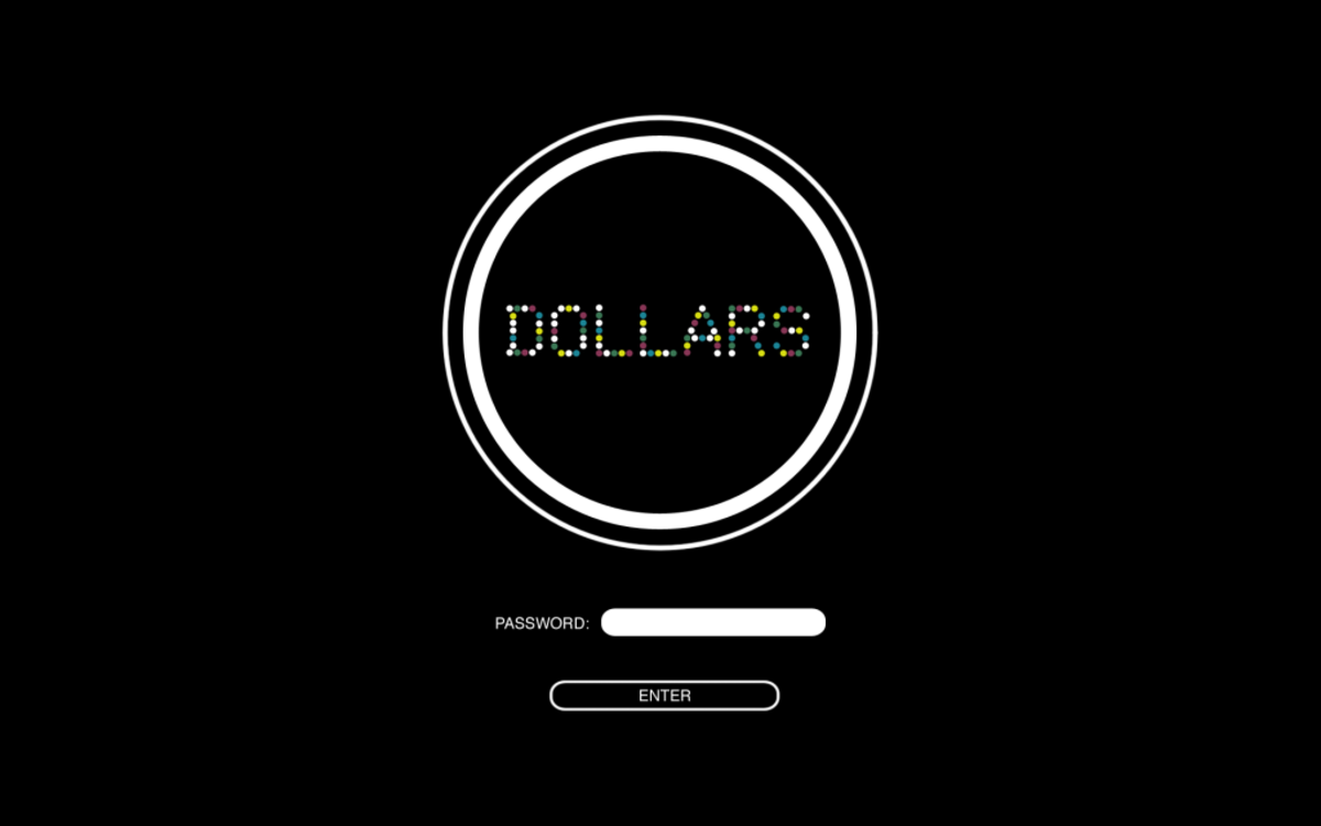 The Dollars official login page