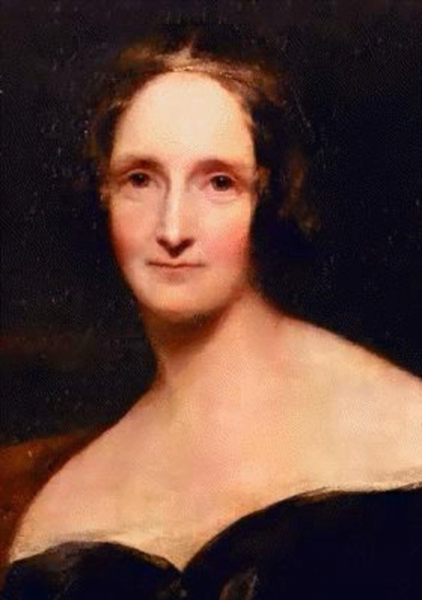 """The author of """"Frankenstein"""", Mary Shelley"""