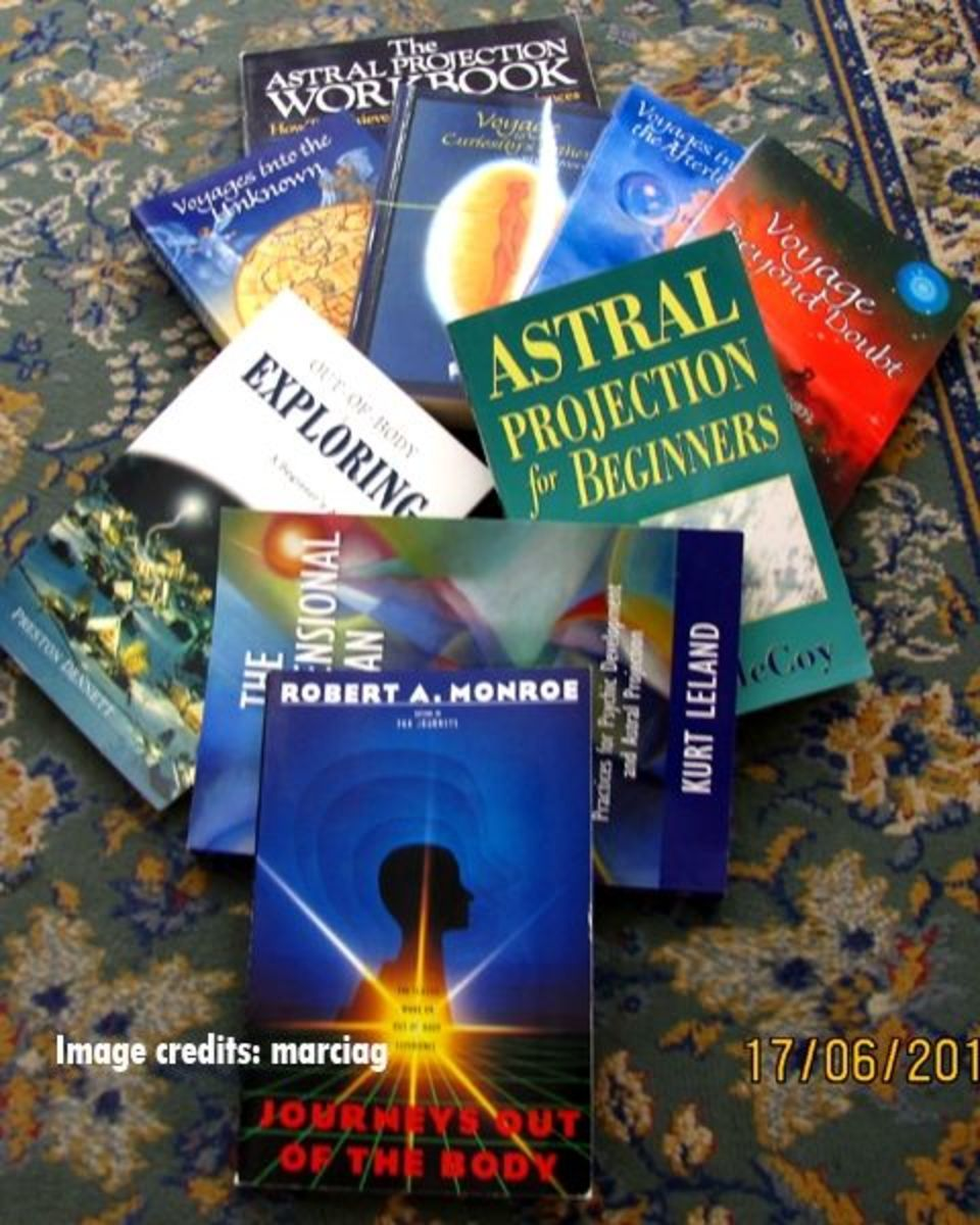 my collection of astral projection books