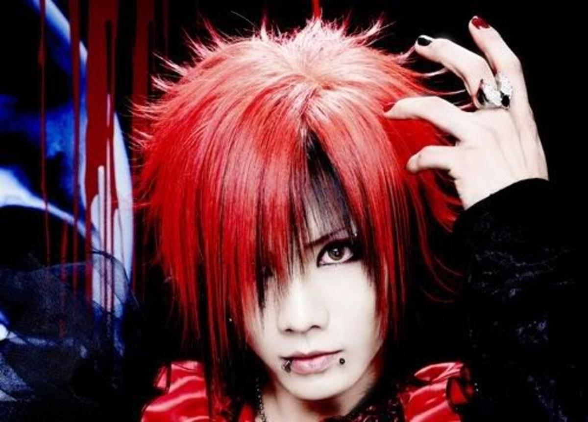 Kazuki red hairstyle.
