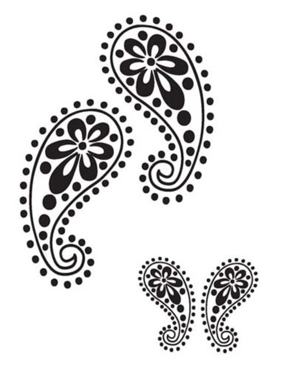 Paisley stencil. Source: Fashion Frog