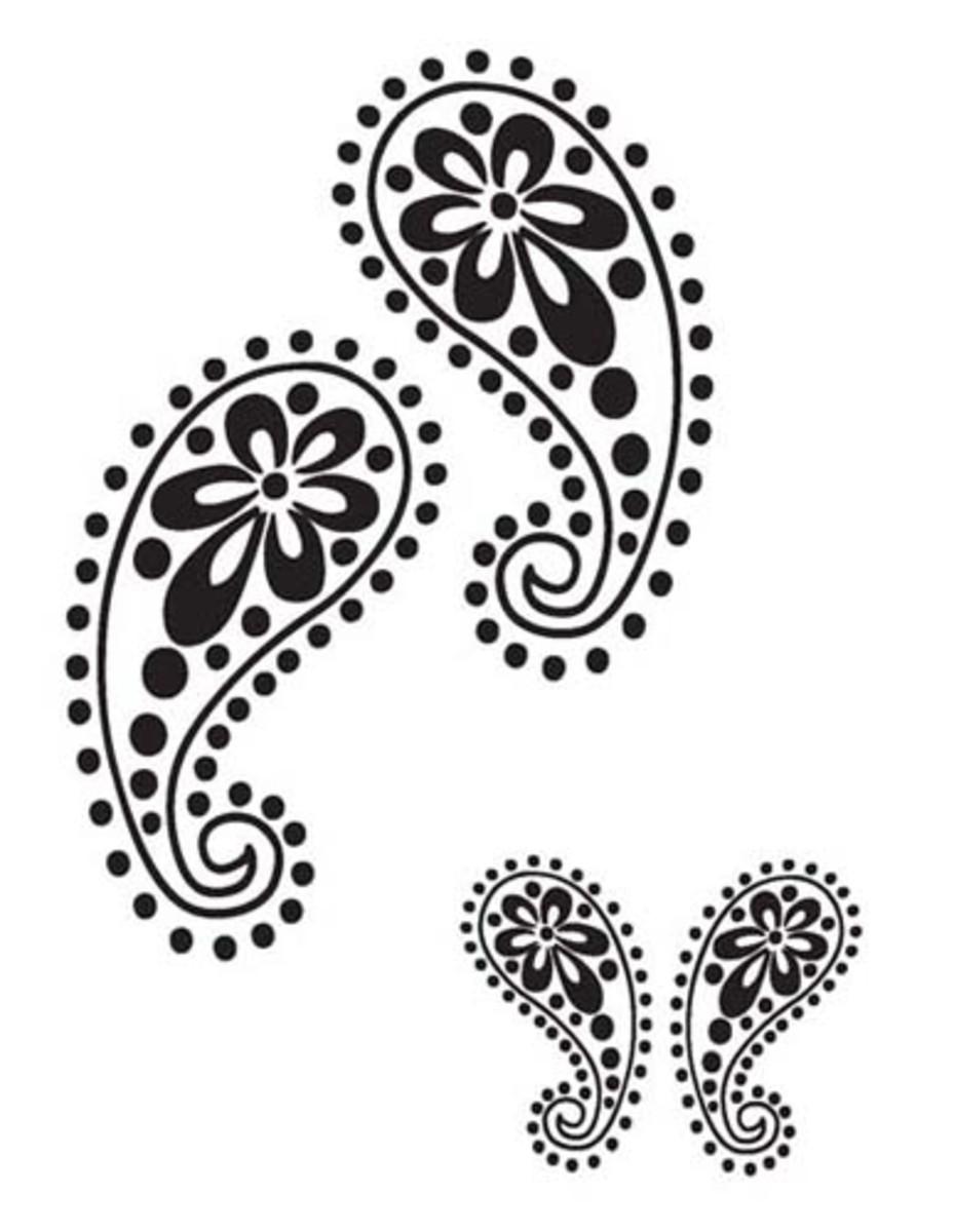 Paisley stencil. Source: Fashion Frog