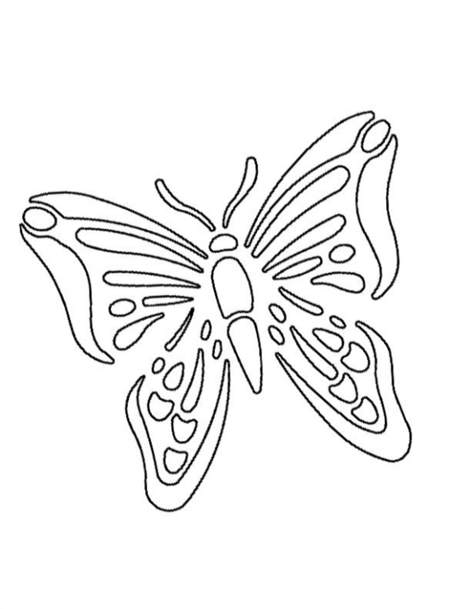 Butterfly printable stencil. Source:  Stencil Ease
