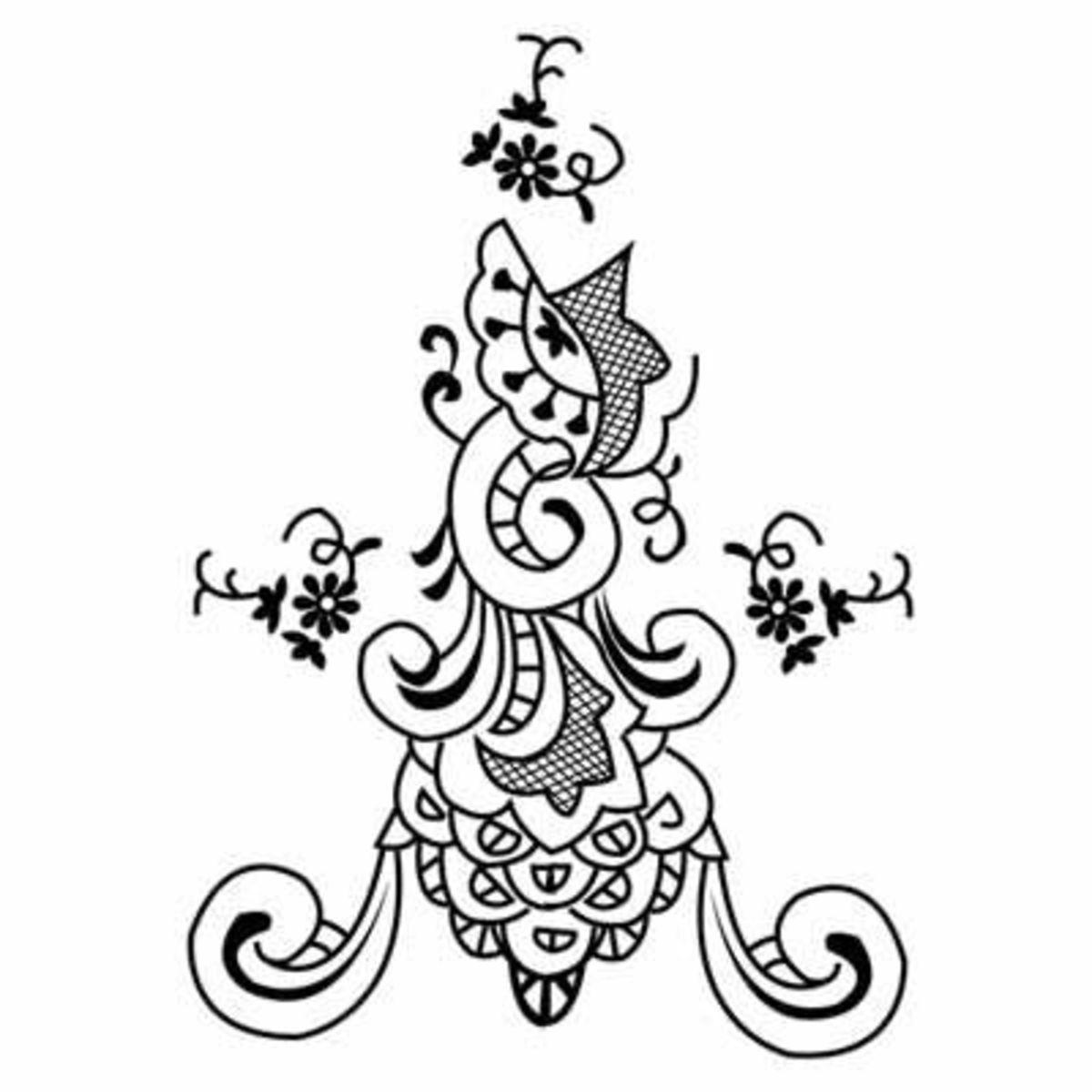 Doodle design printable stencil.Source: Fashion Frog
