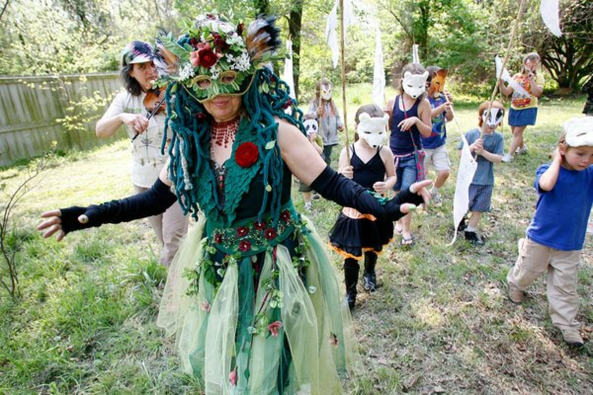 An Amazing Homemade Mother Earth Costume