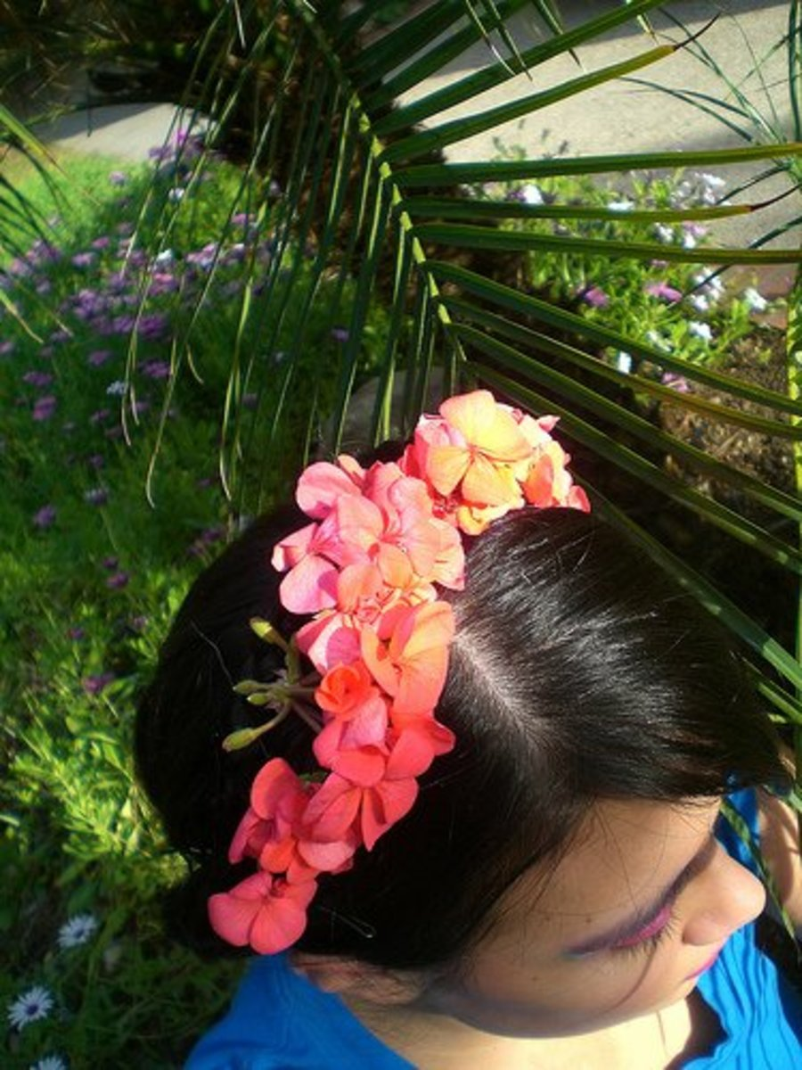 Floral headbands for Mother Earth Costumes