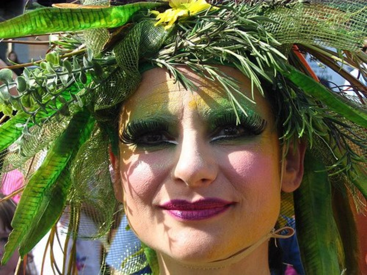 Mother Nature Costume - Twigs and branches in hair