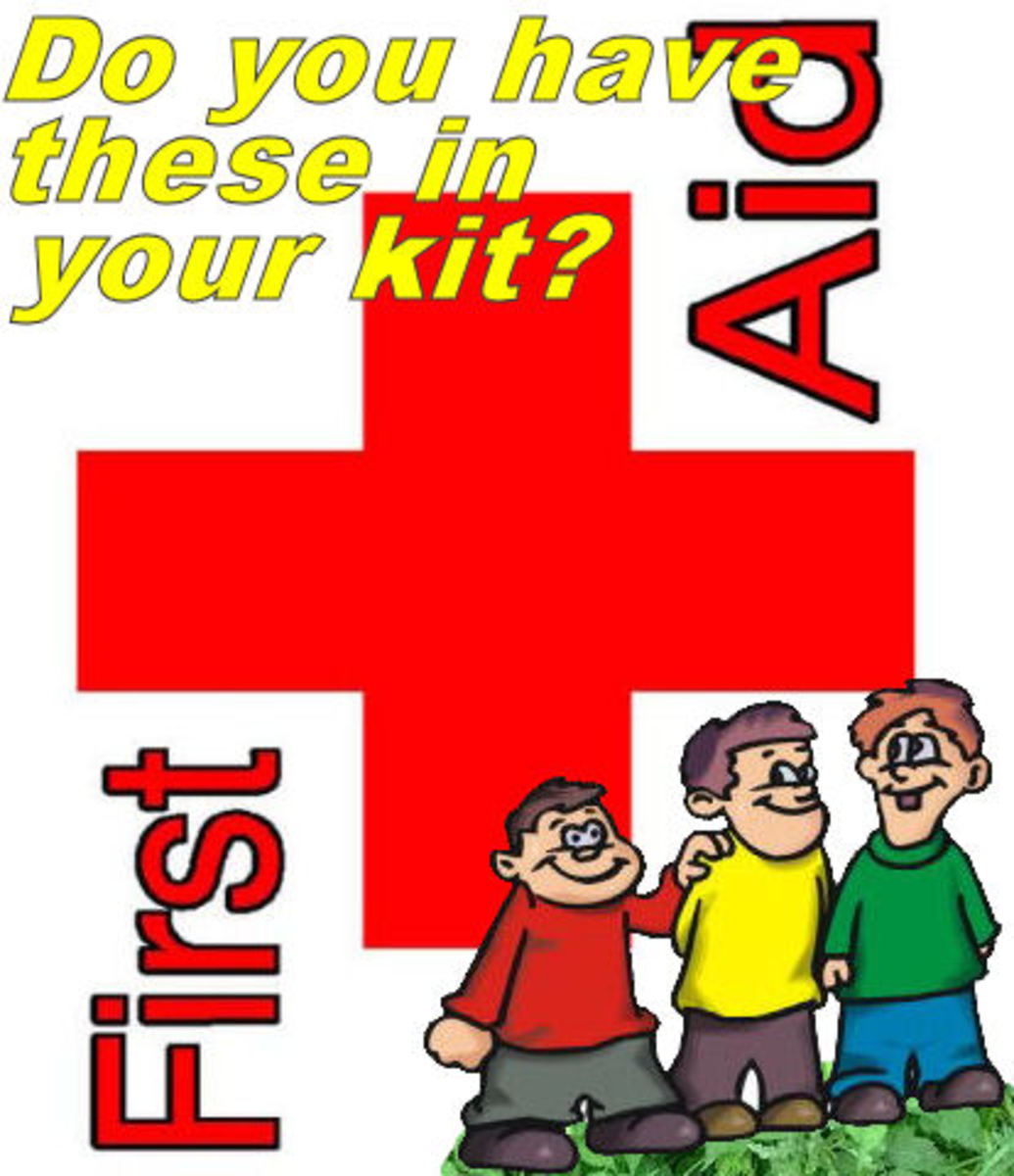 First-aid items for camping with kids