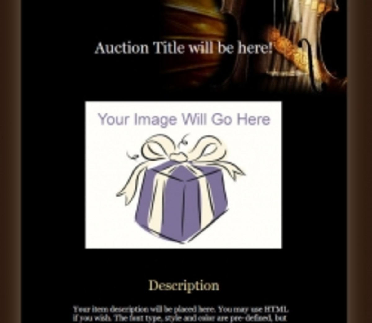 sample auction template