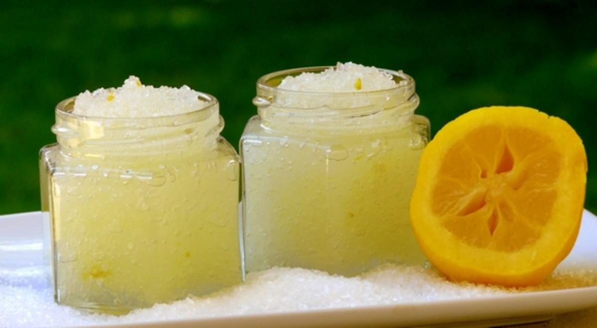 lemon salt body scrub