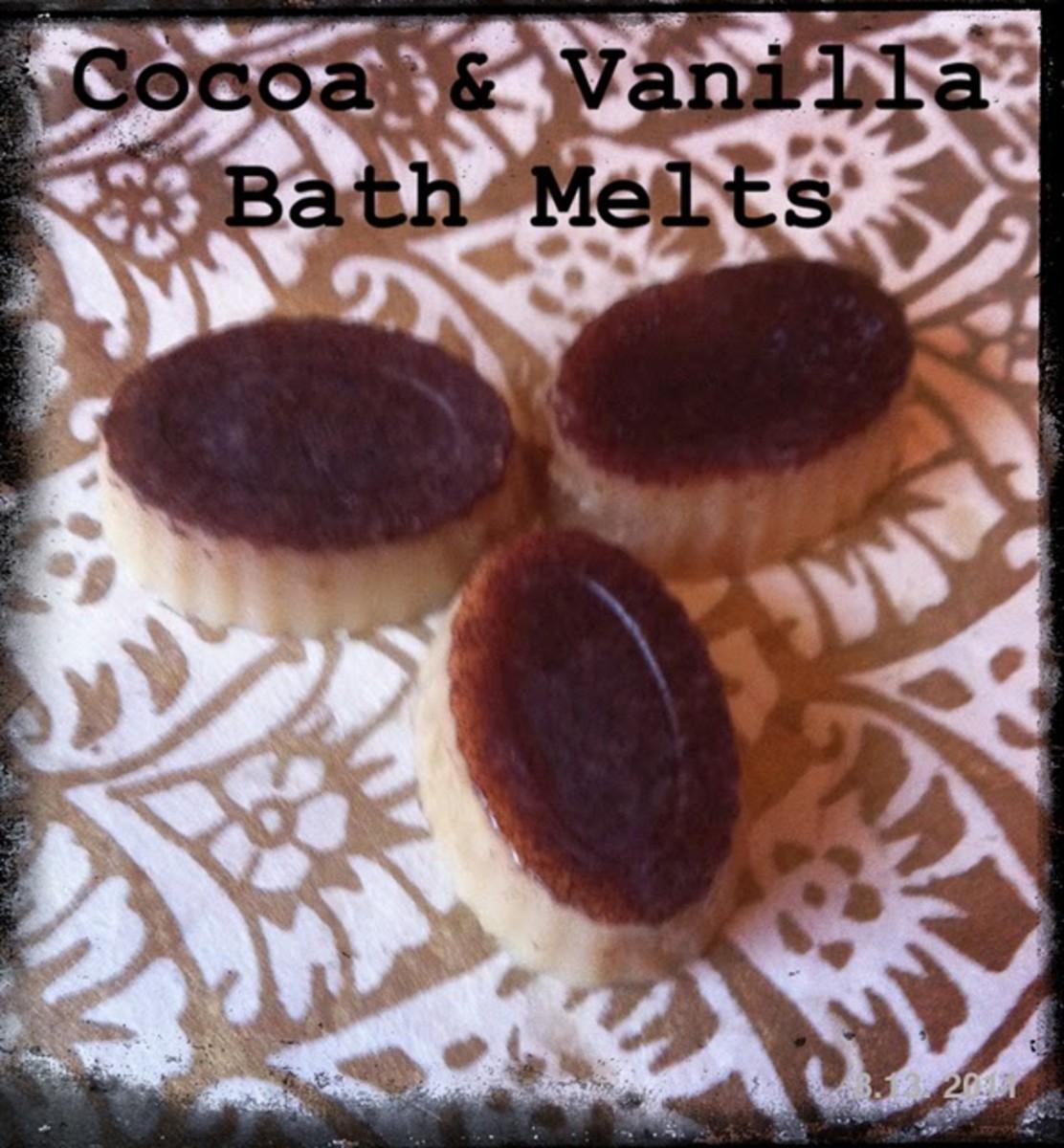 cocoa and vanilla bath melts