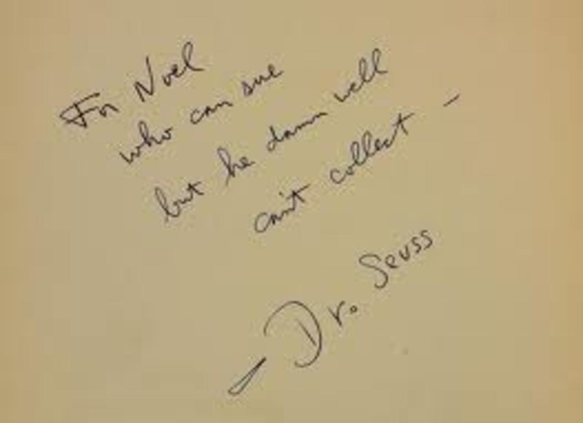 Inside cover signed by dr. Zeuss
