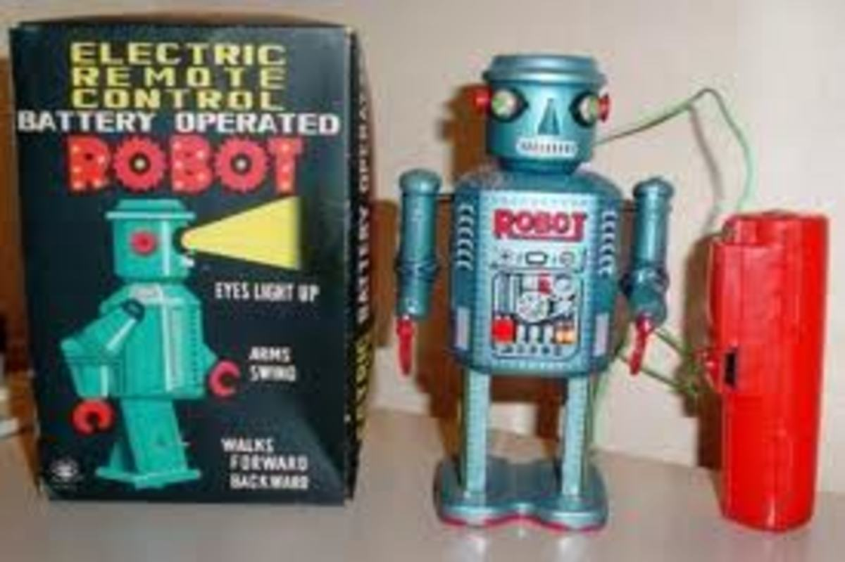 Toy robots from the 1960s are now very sought after
