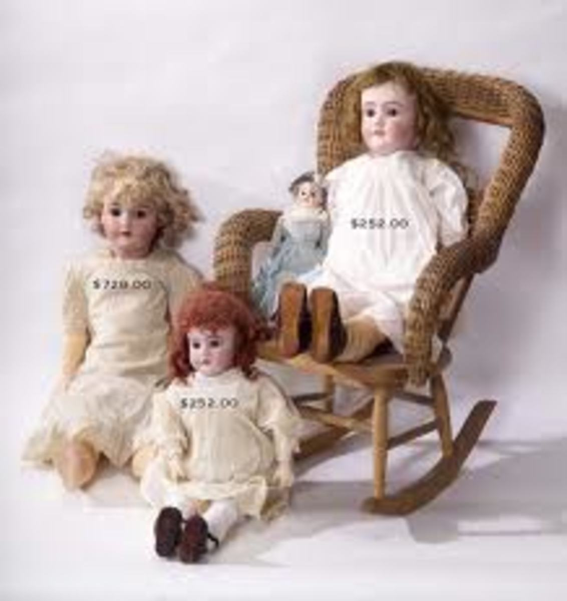 Old valuable dolls can be found
