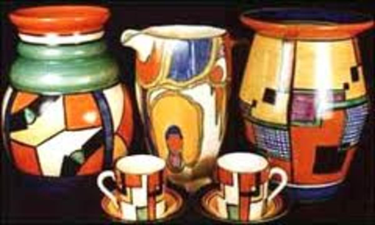 Clarice Cliffe ceramics from london are very rare and valuable as well as colorful