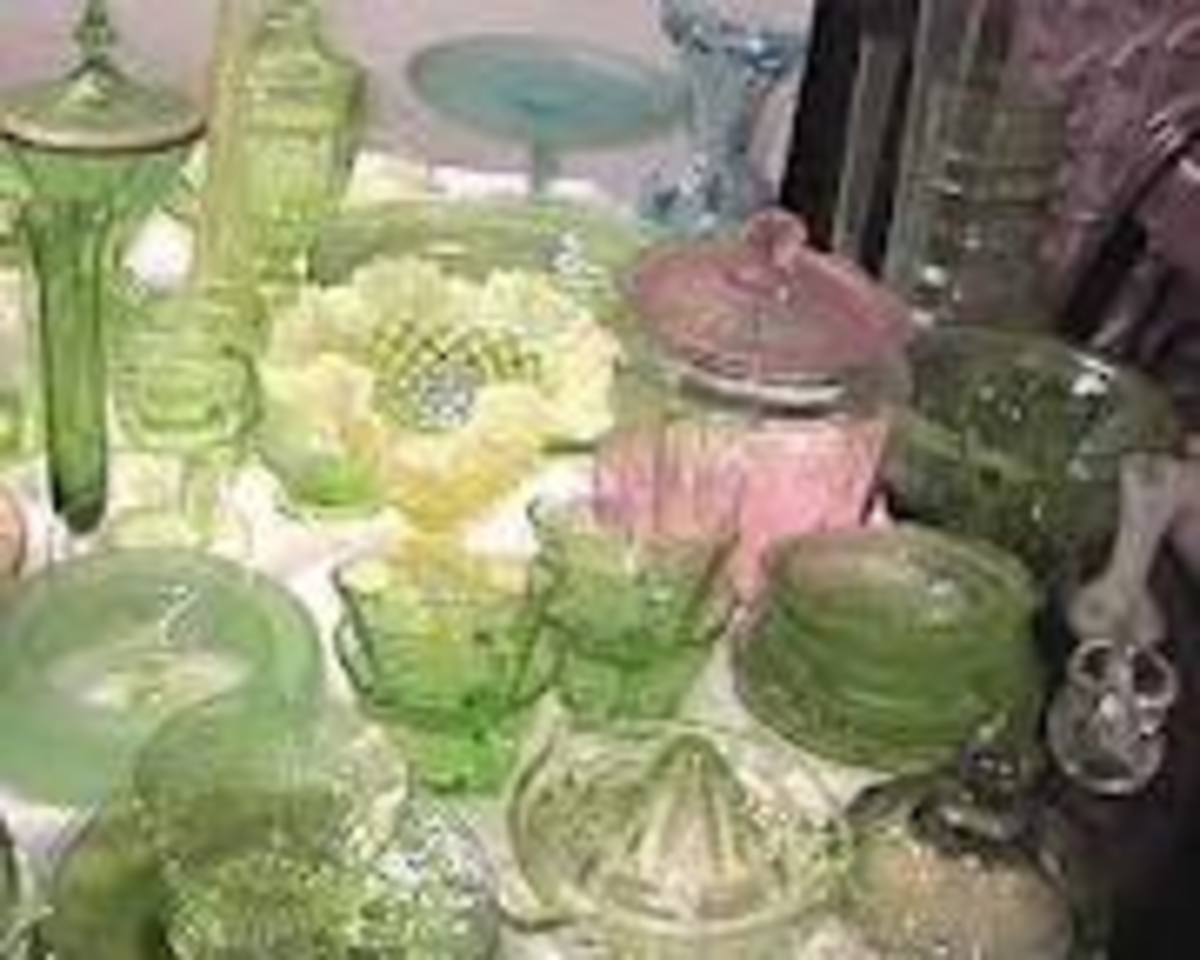 Depression glass is relatively easy to find