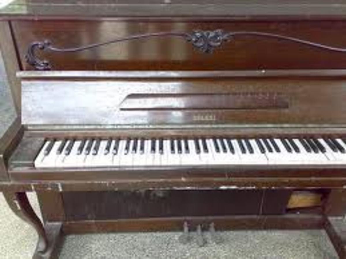Pianos turn up quite often