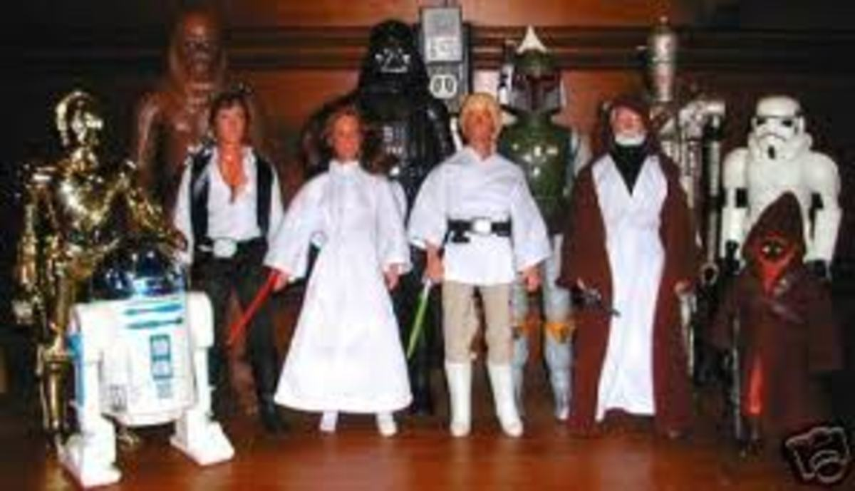 The original Star Wars figurines are worth a packet