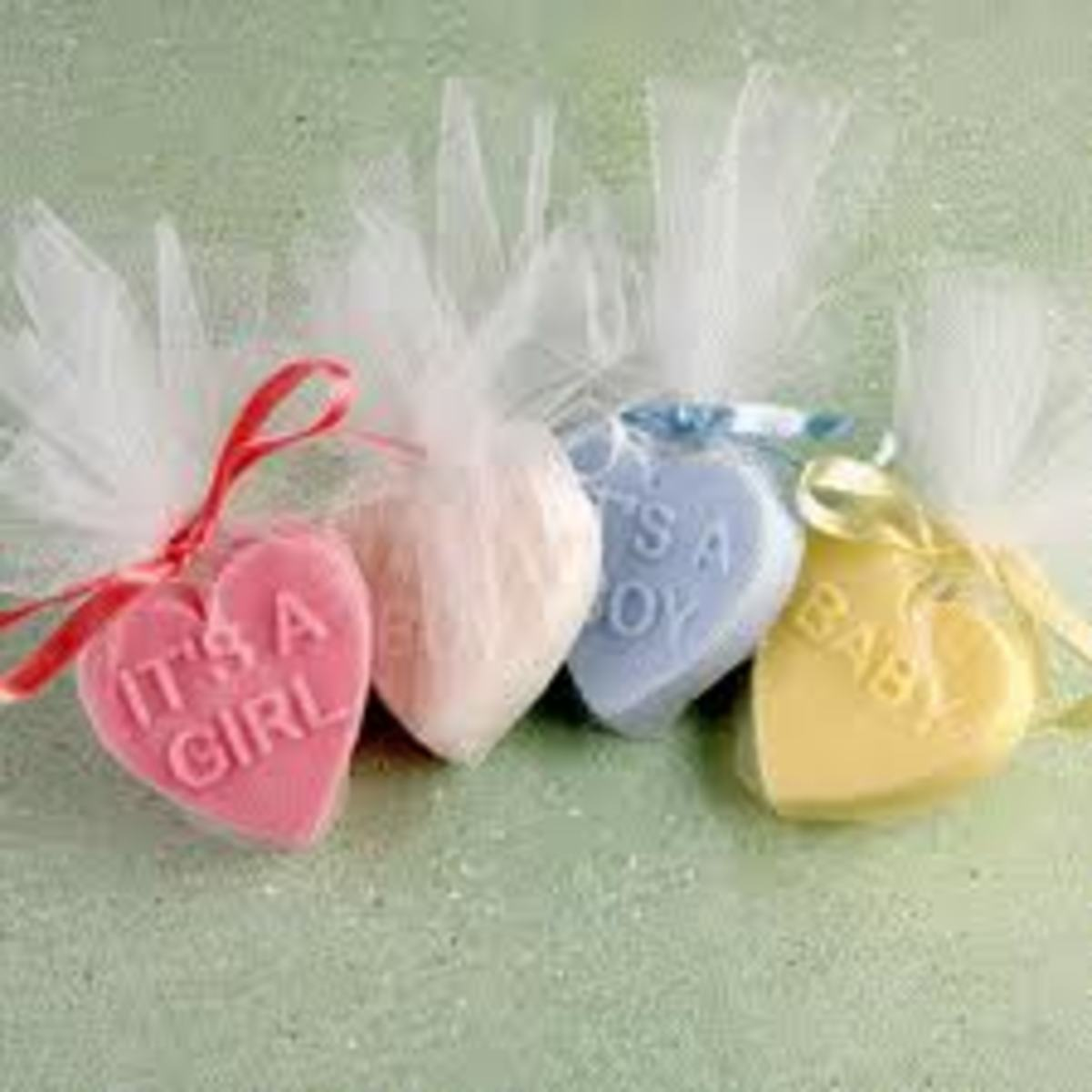 These flavored soap wraps are a great gift for any mother in waiting. It can also be used in decorating.