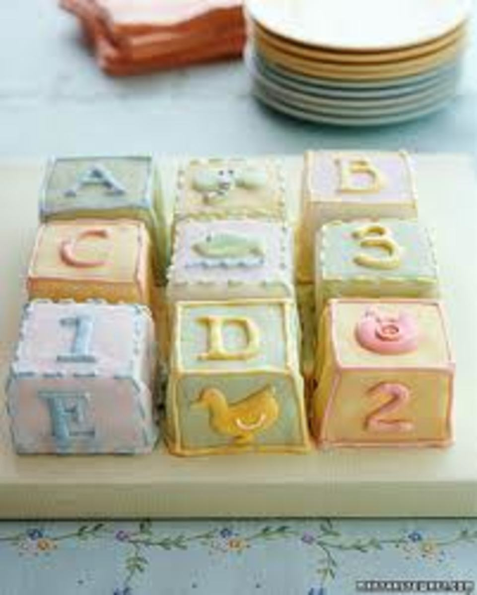 Building blocks or abc blocks can be used in many ways. They can be made for a fun snack or used for decorating.