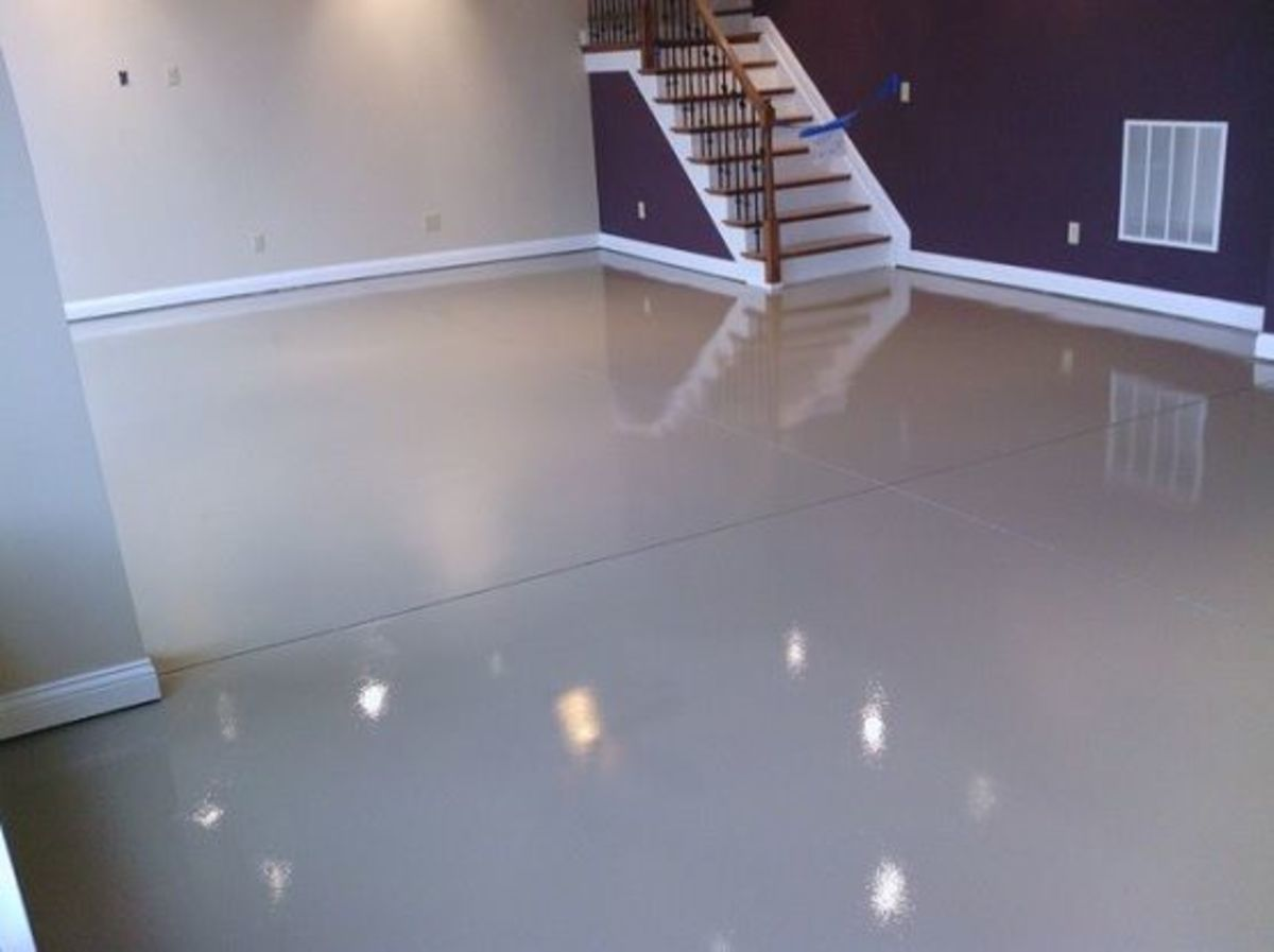 painted basement floor.  How To Buy Basement Floor Paint HubPages