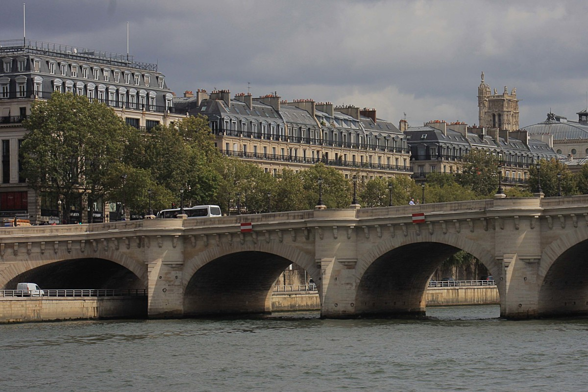 Pont-Neuf, or 'New Bridge' is the oldest (despite its name) and probably the most famous of 37 bridges over the Seine. It was completed in 1607, and connects the Ile de la Cite with both the left and the right banks of Paris