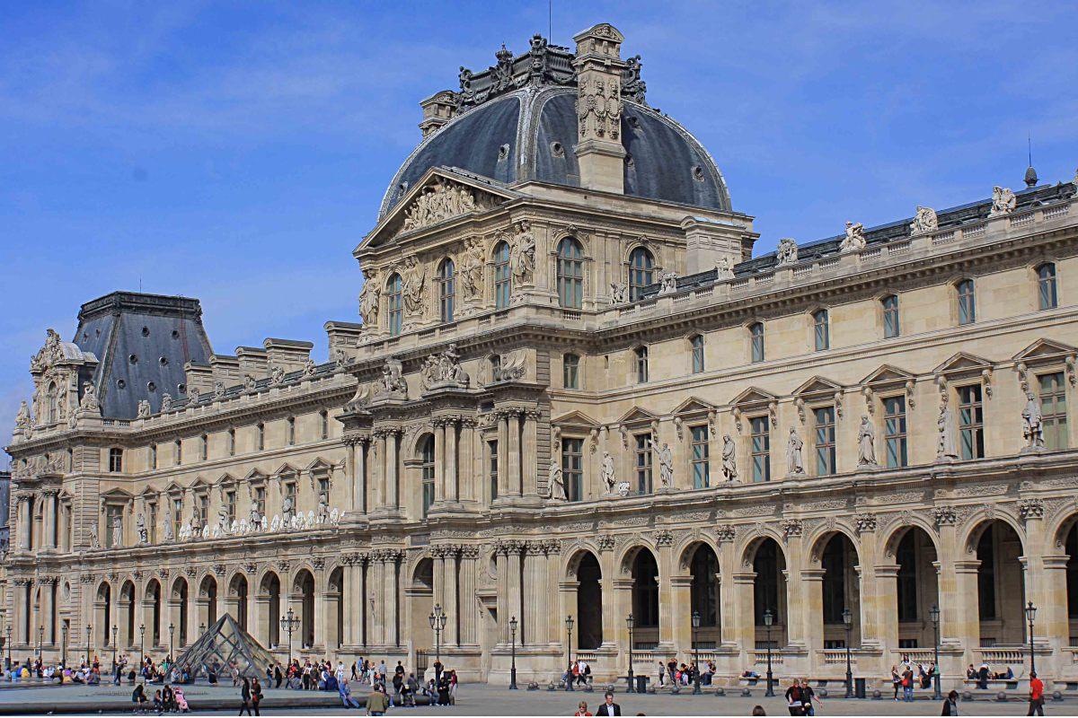 The Pavillon Richelieu at the Louvre