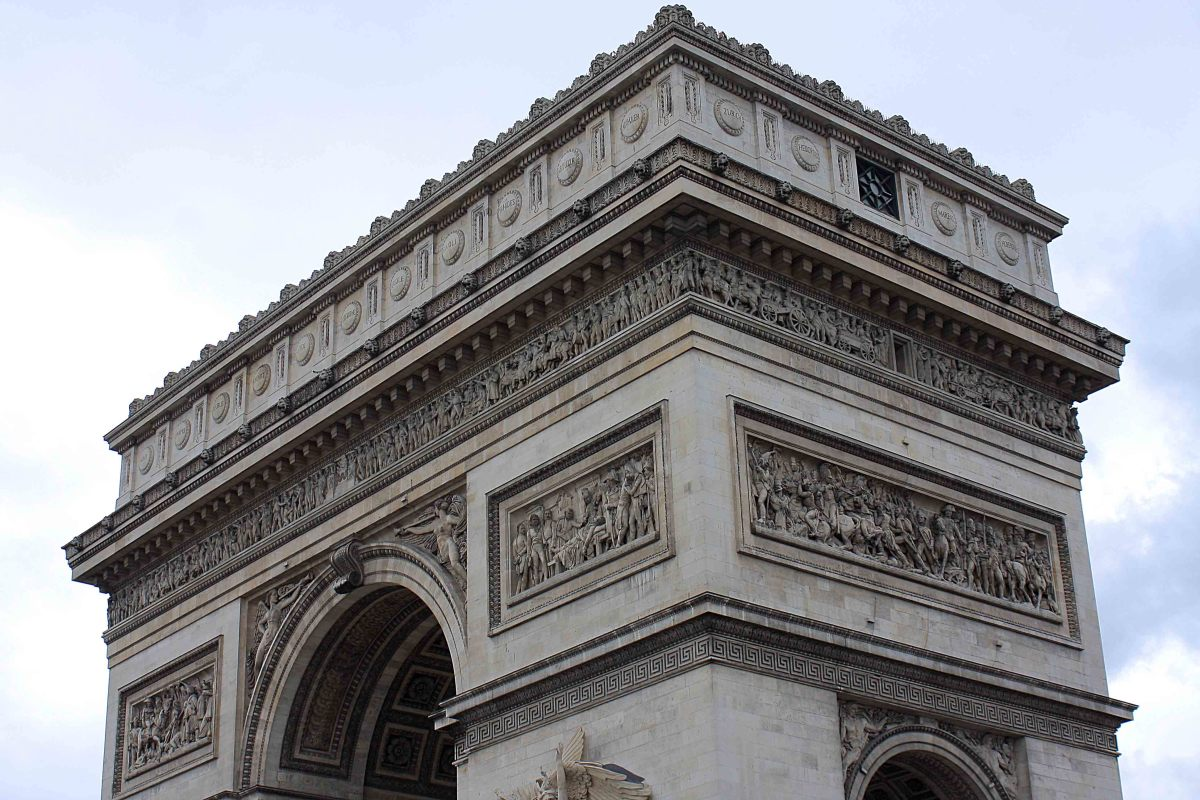 The world's most celebrated triumphal arch - appropriately called the Arc de Triomphe