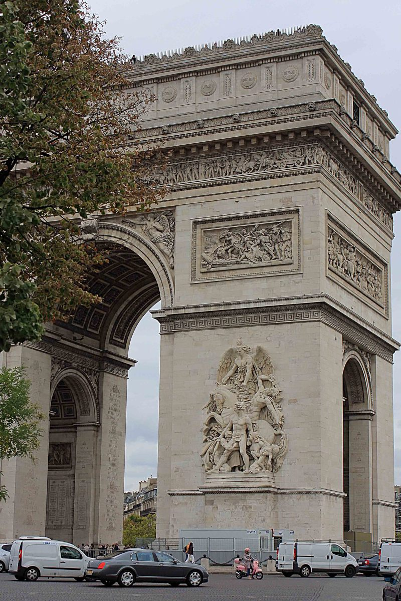 The Arc De Triomphe houses Frances's Tomb of the Unknown Soldier